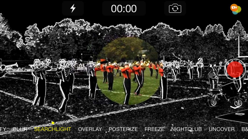 Spotliter video with Searchlight touch effect