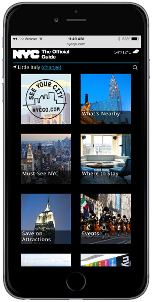 NYCGO.com Optimized for touch