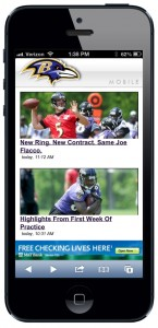 Baltimore Ravens Mobile Website powered by netomat