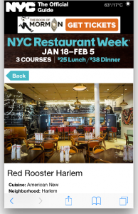 NYCGO 2016 Winter Restaurant Week - Mobile